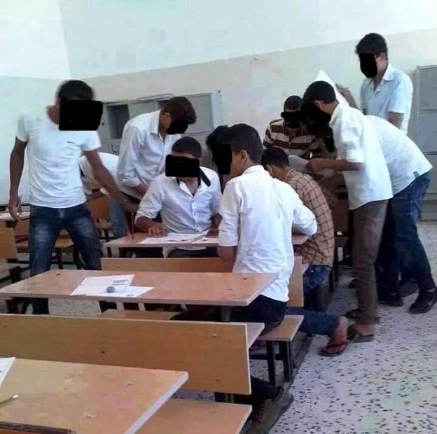 غش جماعي في امتحانات اتمام الشهادة الثانوية التخصصية